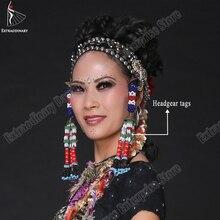 Belly Dance หมวกหมวดหมู่แขวนลูกปัด TRIBAL อุปกรณ์เสริม Hand Made Headwear ผู้หญิงยิปซี STAGE Performance เครื่องประดับ
