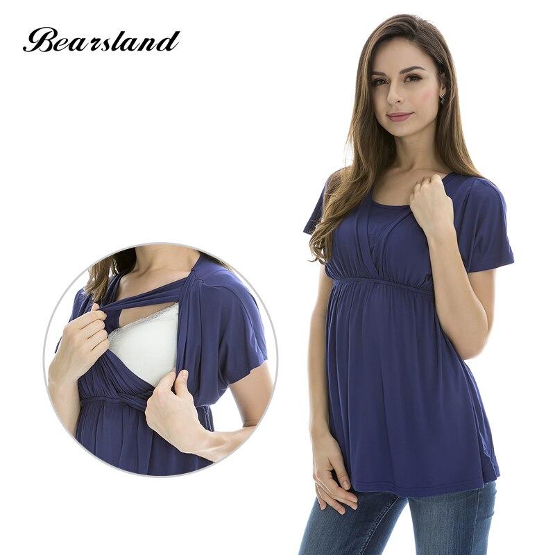 Fashion Maternity tops  Comfortable Modal   nursing top Breastfeeding tops / Tees for Pregnant Women  3 Color fashion breastfeeding t shirt