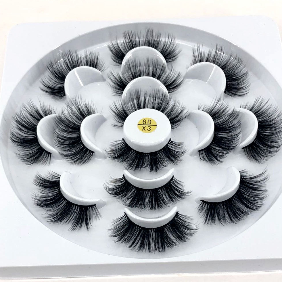 1634b309c38 HBZGTLAD 1/2/7 pairs natural false eyelashes fake lashes long makeup 3d mink