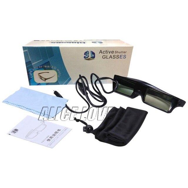 2pcs Bluetooth 3D Active Shutter Glasses for Sony Samsung Panasonic TV TDG-BT500A TDG-BT400A Epson RF3D Glasses ELPGS03