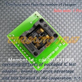 Dual work stations SSOP8-DIP8 CNV-SSOP8-DIP adapter TSSOP8 IC Test the Socket / Programmer adapter foot spacing 0.65mm