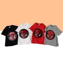 Baby Boy Tops Boys Short Sleeve T Shirts 2019 Summer Kids Streetwear Variable Sequin pattern Girl Baby T-shirt Toddler Girl Tops все цены