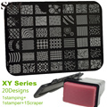 Serie XY Que Estampa Las Placas, 1 Sello + 1 Stamper 1 Scraper Nail Art Imagen Plantillas Plantillas Juegos de Esmalte de Uñas Diseños de Flores NC100