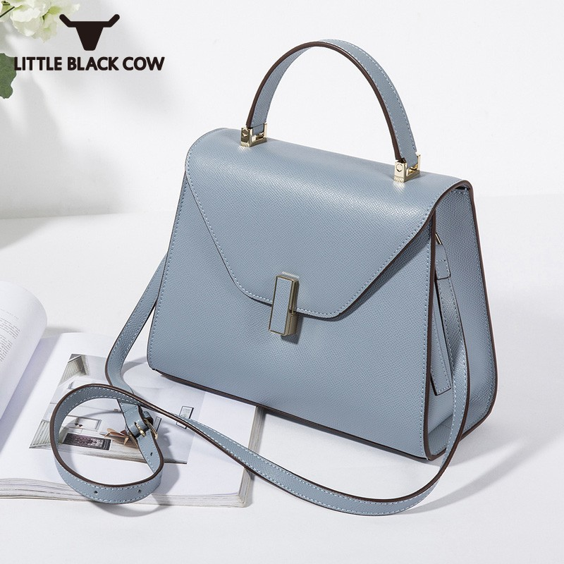 Fashion New Lady High Quality Leather Shoulder Crossbody Bags Women OL Style Leisure Handbag Solid Color Small Bags Woman