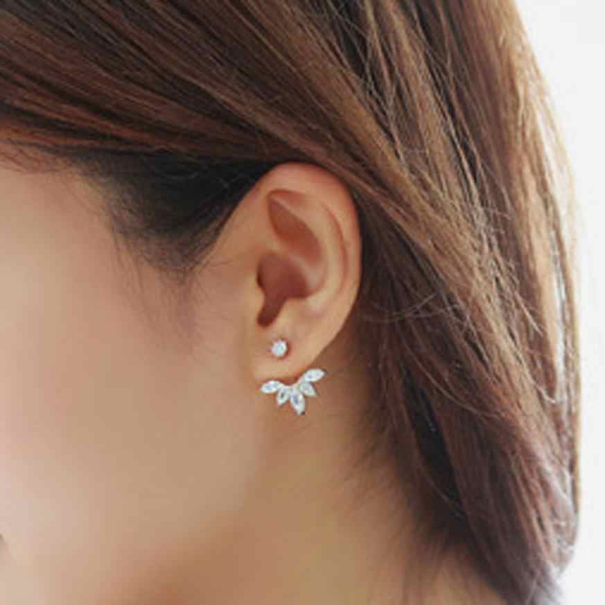 1Pair Fashion Women Earrings Crystal Rhinestone Ear Flower Earrings Jewelry Accessories Pendientes Fabulous DOorbellen Earring
