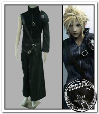 Free Shipping Anime Final Fantasy Cosplay Final Fantasy VII Cloud Strife Cosplay Costume Wholesale Costume Full