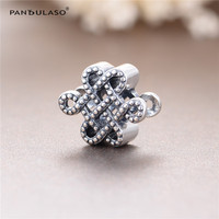 Chinese Peace Sign Vintage Beads Fit Pandora Charms Bracelet New Original 925 Sterling Silver Beads For