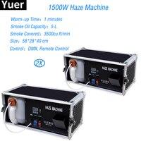 Disco DJ Lying Ground Smoke 1500W Haze Low Fog Machine DMX Hazer Machine Remote Controlled Special Effect Equipment For Stage