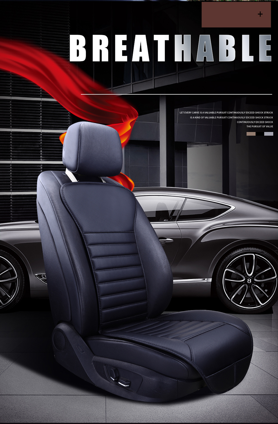Cool 2019 Brand New Pu Leather Not Moves Car Seat Pad Auto Non Slide Car Seat Cushion Universal Car Accessories Single Seat Covers Uwap Interior Chair Design Uwaporg