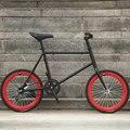 20-дюймовые маленькие колеса  мини твердые шины  велосипед с двумя дисковыми тормозами