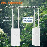 Comfast 300Mbps 1200Mbps Wireless Wifi Repeater Outdoor 2.4&5.8Ghz High Power Outdoor Waterproof Extender Wifi Router Antenna AP