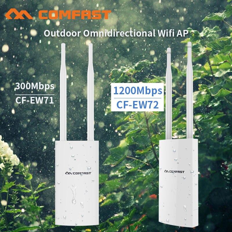 Répéteur Wifi sans fil Comfast 300Mbps-1200Mbps extérieur 2.4 & 5.8 Ghz haute puissance extérieur étanche Extender Wifi routeur antenne AP