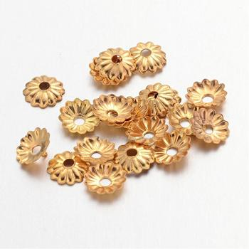 50000pcs 5mm Golden Color Iron Bead Caps for Jewelry Making DIY Bracelet Necklace Findings Wholesale 5x1.5mm Hole: 1mm