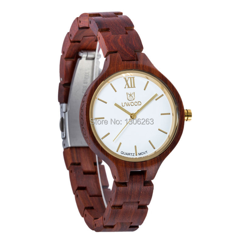 54362d28335 Women Dress Watch Lady Women Wooden Quartz Watch Display Bangle Natural Wood  Watches Relogio In Gift Box