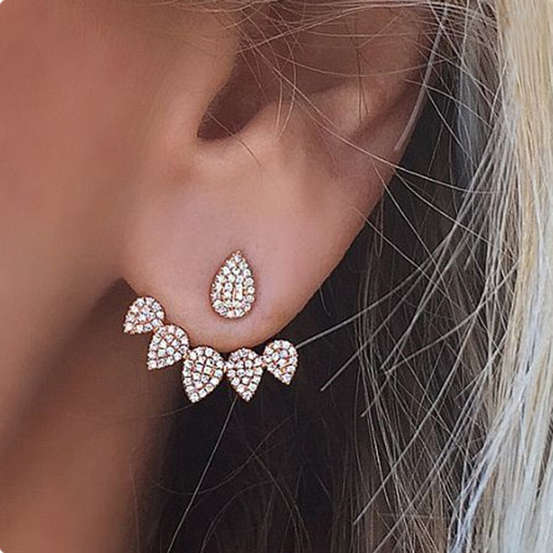 earings fashion jewelry gold color stud earrings women accessories rhinestone earring for girls aros boucle doreille ER3181