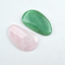 Natural rose quartz and aventurine jade relax guasha board for wrinkle removal whitening face care beauty face equipment tools