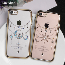 KINGXBAR Original Swarovski Кристалл Алмаза Жесткий Чехол для Мобильного Телефона iPhone 7 Плюс 7 Плюс iPhone7 Чехол для iPhone 7 Обложка Shell