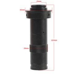 200X ciągły Zoom C CS mocowanie obiektywu przemysłowe lupa mikroskop soczewki okularu dla HDMI USB VGA cyfrowy mikroskop z aparatem
