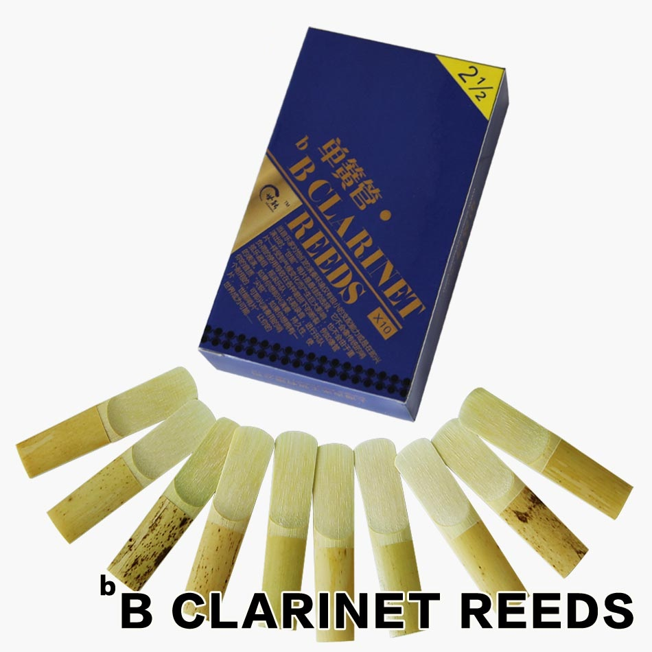 Clarine accessories SHINENG 2 1/2 Clarinet Reeds Set made of Good Bamboo 10pcs/box ...