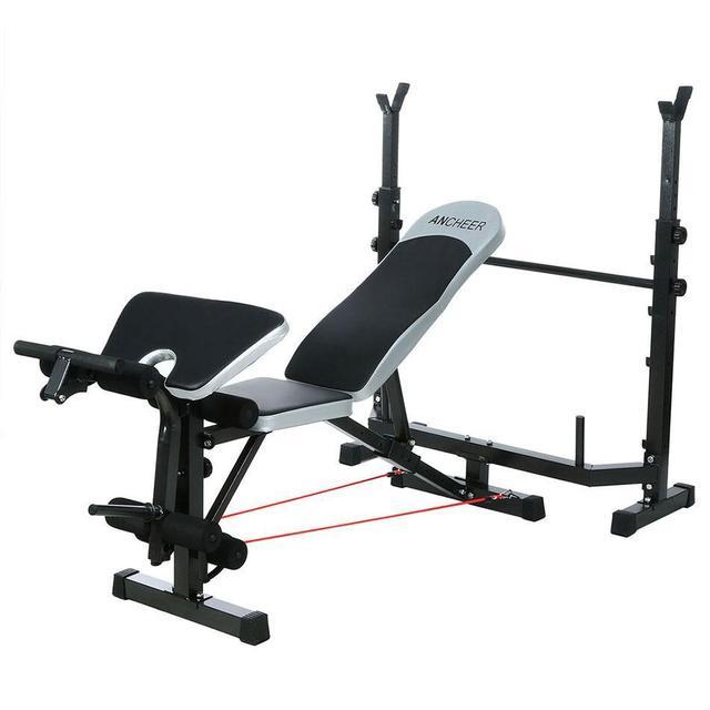 ANCHEER Фитнес оборудования силовая скамья стол прессовального станка стойка для приседаний гантели тела руки тренировки крытый оборудование для тренажерного зала