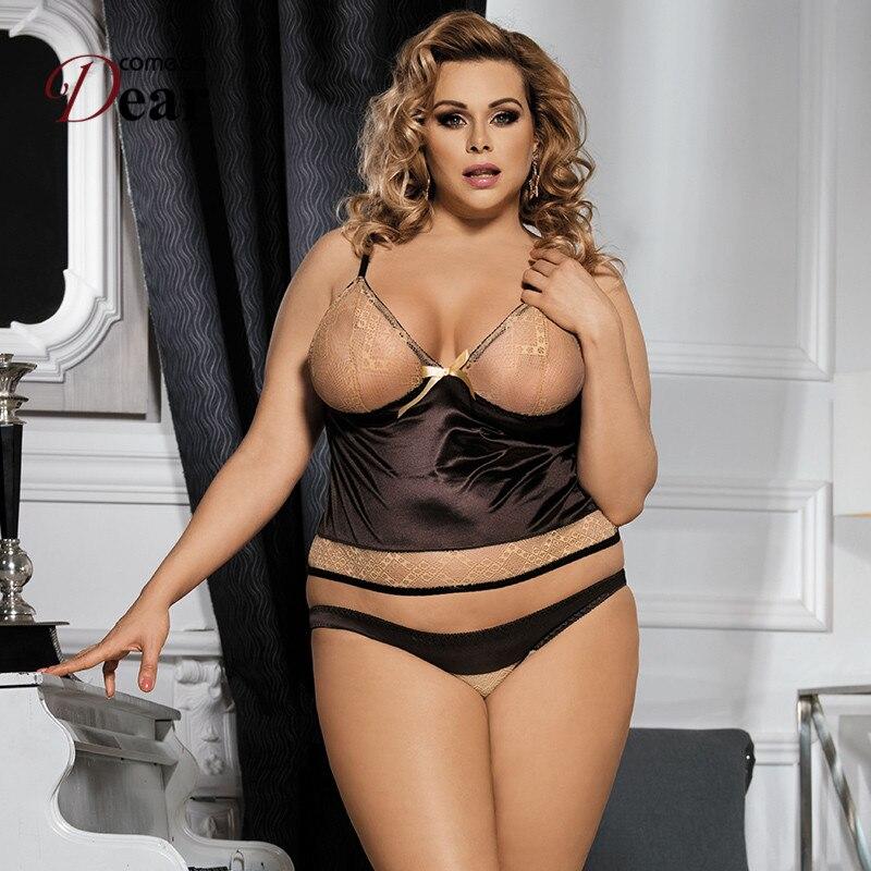 Comeondear Sous Vetement Femme Seksikas RJ80350 Pits Camisole ja lühike aluspesu seksikas kuum erootiline pluss suurus naistepesu sugu seksikostüümid