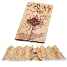 Харри Поттер Marauder's географические карты мини версия Коллекционная Ретро пергамент Новый косплэй реквизит подарок 76×22 см