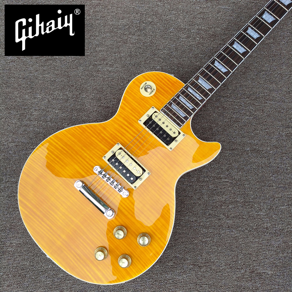New style high quality LP Slash electric guitar, Flame Maple Top Rosewood Fingerboard electric guitar, free shipping gisten high quality custom lp electric guitar transparent black burst maple top active pickup electric guitar free shipping