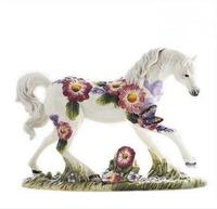 beauty ceramic horse home decor crafts room decoration ceramic kawaii ornament porcelain garden animal figurines decorations