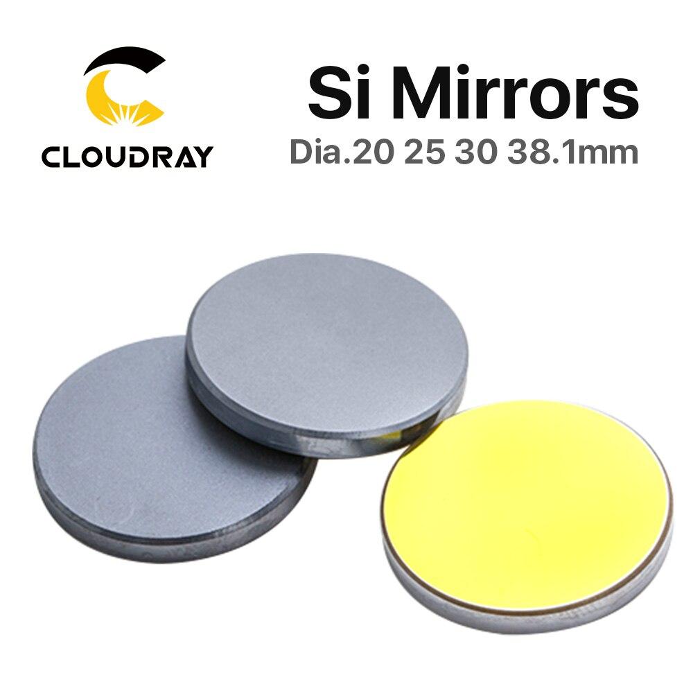 Si Mirror Dia. 19 20 25 30 38.1 mm Silicio chapado en oro para - Instrumentos de medición - foto 4