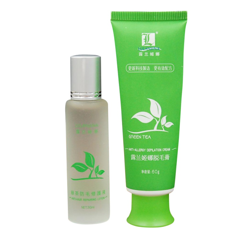 Women Men Green Tea Fast Permanent Hair Removal Cream Body Hair Remova