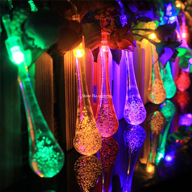 3M 30 LED Fairy String Lights Lamp Waterdrop Battery Operated Crystal Bubble Water Drop Christmas Xmas