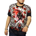 RFBEAR brand Men's T-Shirts Cotton Plus Size 6XL Tee Shirt Homme Summer Short Sleeve Men t shirts Camiseta Tshirt Homme cattle