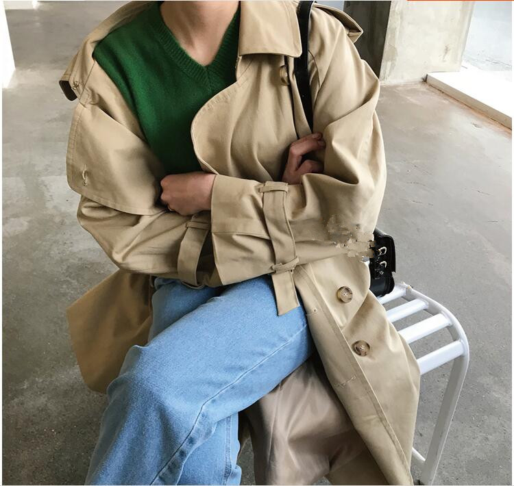 Brand famous British Design 2019 New double breasted loose oversized   trench   PLUS SIZE runway maxi coats windbreaker