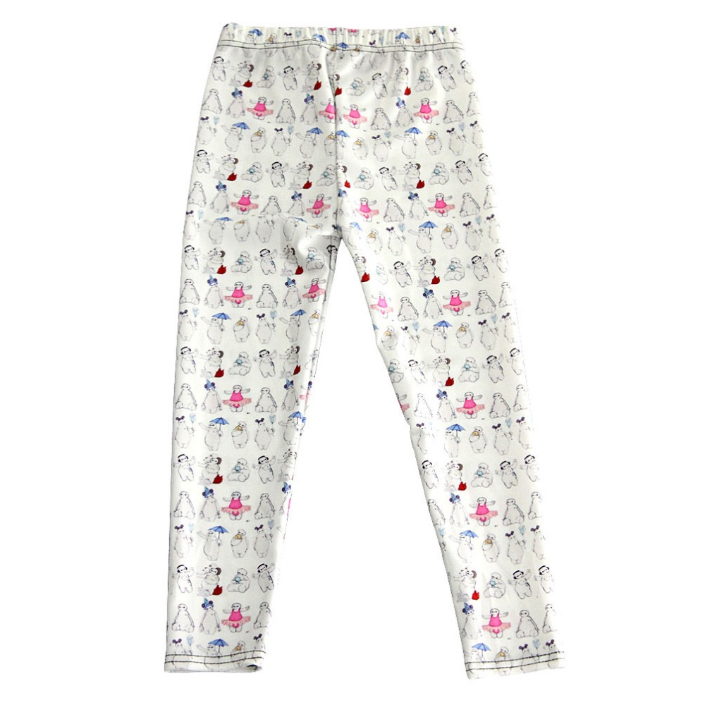 For Teenage Girl Cartoon Kinds of Baymax Print Fitness Pants Casual Exercise Leggings Elastic Fiber Full Length Energy Trousers