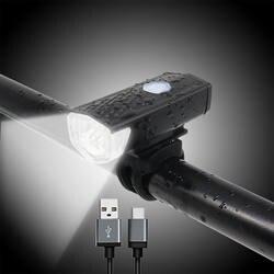 FTW велосипед света USB перезаряжаемые 300 люмен 3 Режим Велосипедный спорт передний свет лампы велосипед фар Велоспорт Светодиодный фонарь FL3112