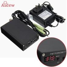 Черный 5 Вт стерео цифровой fm-передатчик Радио передатчик мини fm Радио станции