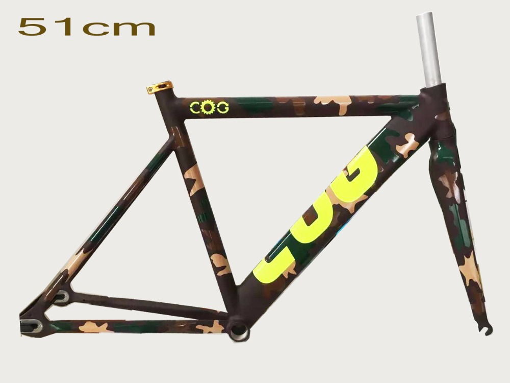 2017 full color Grassland cool price 51 inch cool design aluminum alloy fork fixed gear bike frame track frame fixed gear frame bsa carbon 1 1 2to 1 1 8 bike frameset with fork seatpost road carbon frames fixed gear frameset