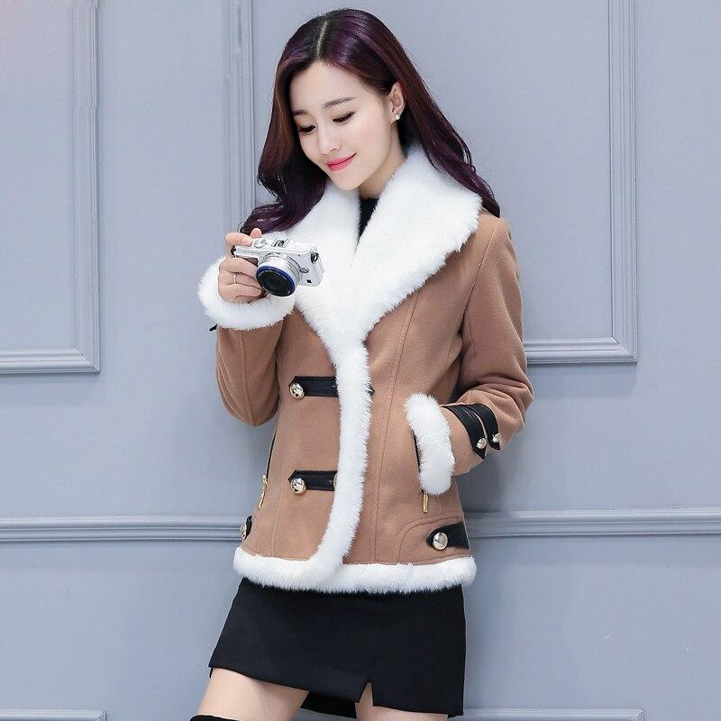 2018 Winter Weibliche Weiche Plüsch Jacken Damen Winter Jacke Baumwolle Gepolsterte Weiblichen Kurzen Kaschmir Mantel England Frauen Jacke A3875