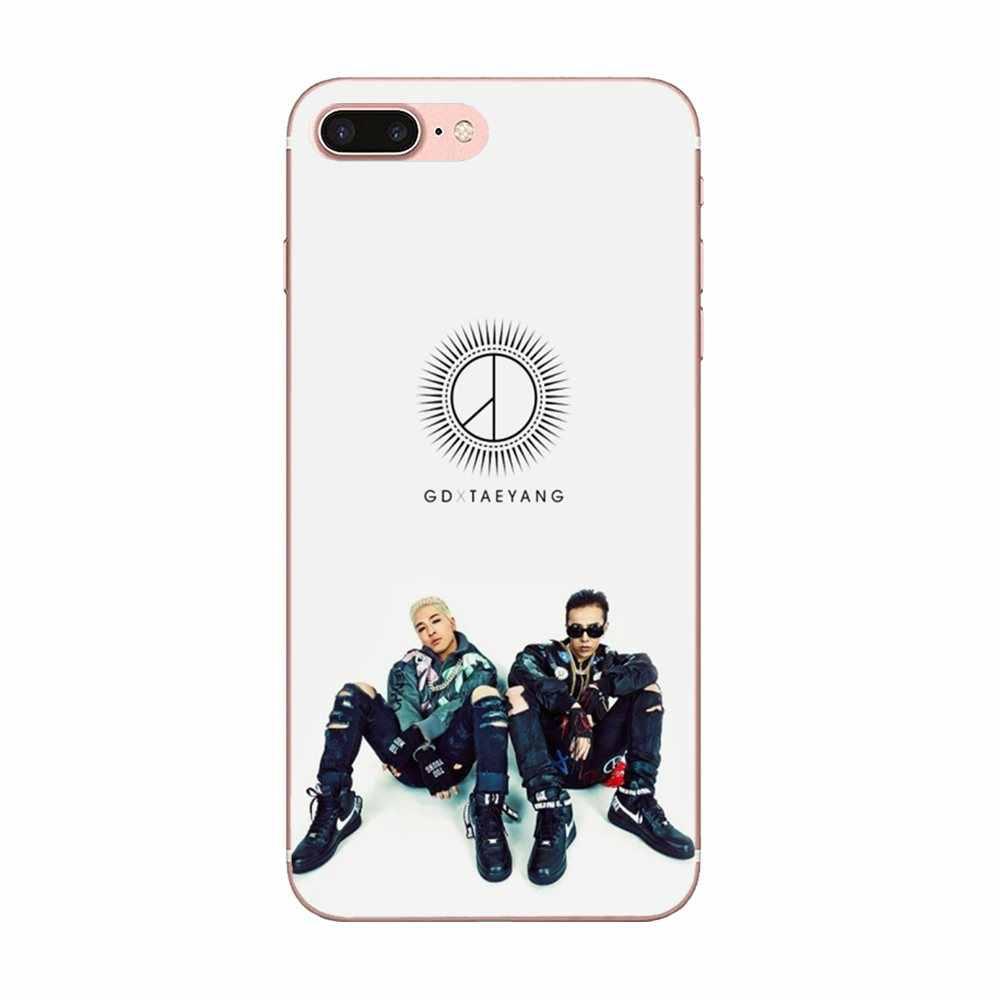 لوحة جديدة Kpop Bingbang Gd مطبوع عليها شعار G Dragon من البولي يوريثان لبشرة هواوي P7 P8 P9 P10 P20 P30 Lite Mini Plus Pro 2017 2018 2019