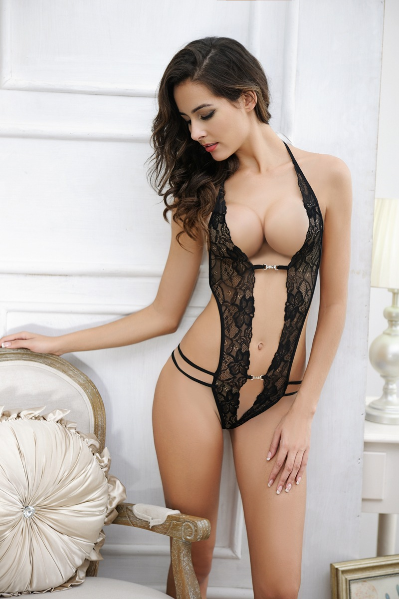 Free Size Women Lace Open Bar Sexy Lingerie Hot Babydoll Erotic Lenceria Erotica Mujer Sexi Underwear Dress Bondage Set Duftgold In Lingerie Sets From