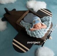 Dvotinst реквизит для фотографии новорожденных деревянный позирует самолета корзина для ребенка твердой древесины интимные аксессуары младен