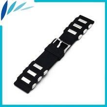 Silicone en caoutchouc bande de montre 22mm 24mm pour casio bem 302 307 501 506 517 EF MTP Fermoir En Acier Inoxydable Bracelet Boucle Ceinture Bracelet