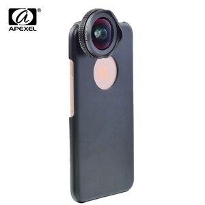 Image 2 - Apexel 2 em 1 kit de lente da câmera do telefone 16mm 4k super grande angular lente móvel com filtro cpl para iphone x 7 8 samsung s8 mais