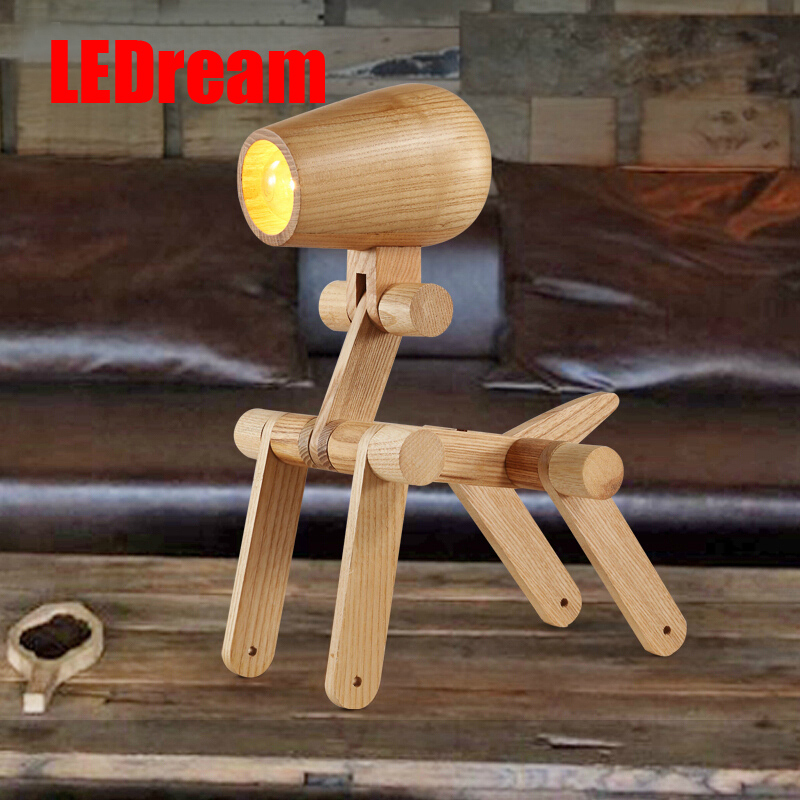 Creative lamp the dog Contemporary and contracted study lamp bedroom the head of a bed Folding the mywood art lighting двигатель форд 1 4 харьков
