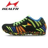 La salud de Los Deportes Atléticos Zapatos Corrientes de Las Mujeres Zapatos Que Activan de pista y campo Profesional largo salto krasovki Hombres Zapatos Deportivos