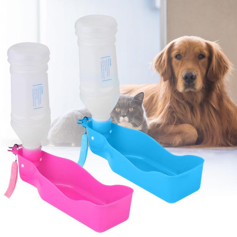 350ml Portable Pet Dog Water Bottle Travel Dog Bowl Cups: 350ml Portable Pet Dog Water Bottle For Dogs Travel Puppy