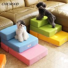 Linda mascota Escaleras de rampa para small dog pet dog mat colchón de tela de malla transpirable mascota pasos 2-pasos con desmontable suave cubierta