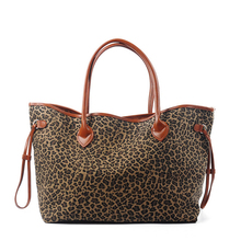 Southern Hot Sales Leopard Women Canvas Handbag Lady Large Casual Tote Bag Bridesmaid Gift Can Be Embroidery