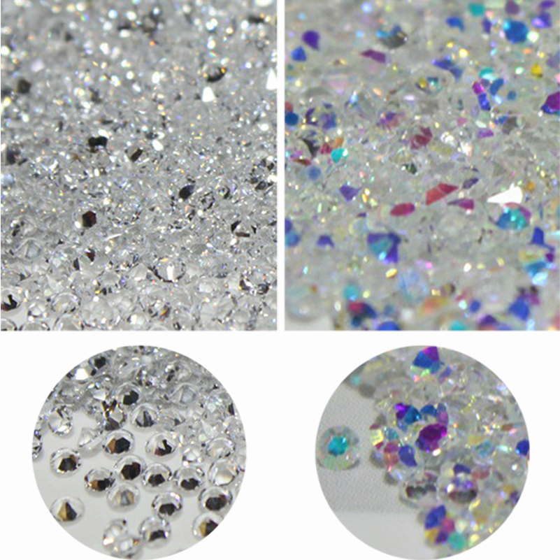 wholesale 1440pcs All Sizes Crystal Pixie Glass Micro Rhinestones for Nails Strass Nail Art Decorations Unas Design Strass 1 1mm crystal pixie ab glass micro rhinestones for nails crystals strass nail art decorations unas nail design strass mjz1007
