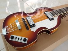 High quality 4 strings volin electric bass guitar / volin bass  guitar цены онлайн